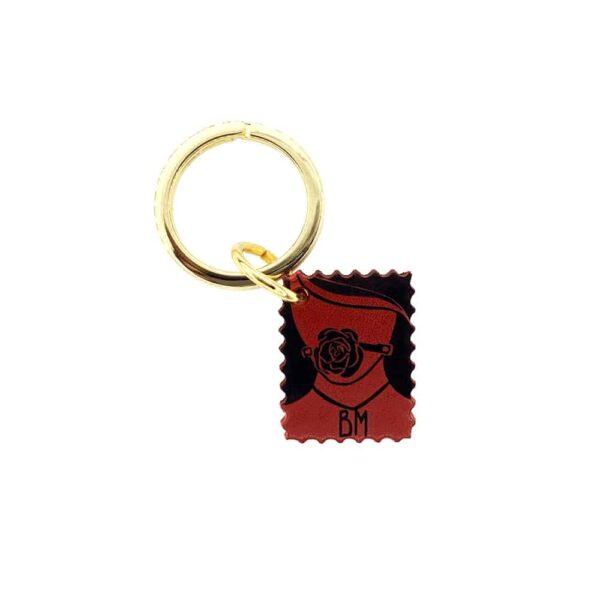 Porte Clef rouge, noir et doré de DOMESTIQUE chez BRIGADE MONDAINE