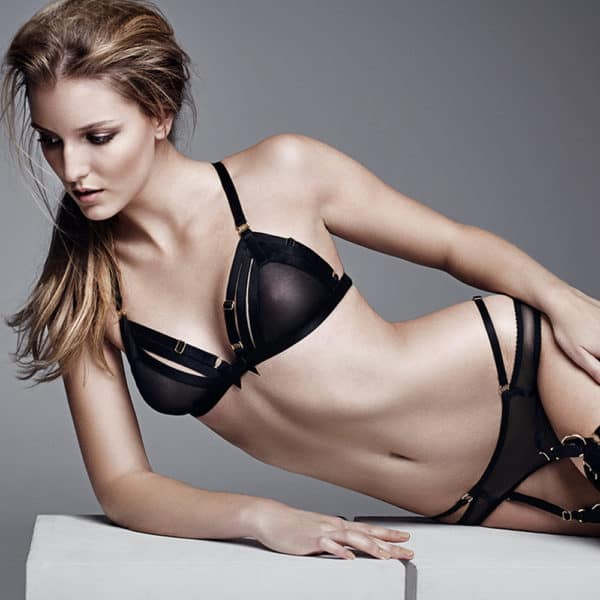 Soft Mesh Bra en triangle par Bordelle SIgnature en noir