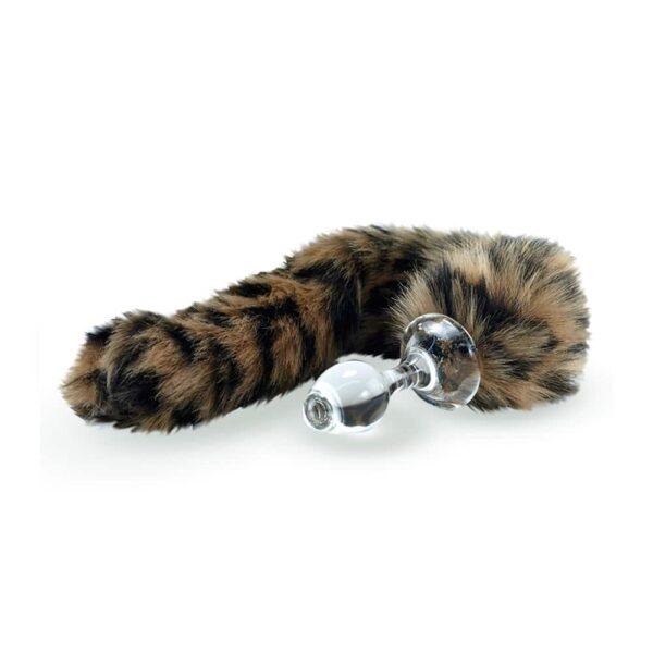 Tapón de cola de brote de leopardo con base magnética desmontable por Crystal Delights en Brigade Mondaine
