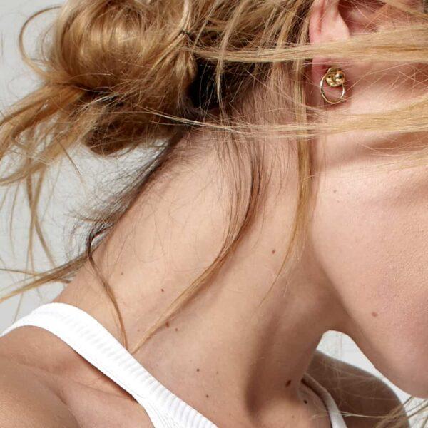 Domestique pin couleur or avec anneau O ring