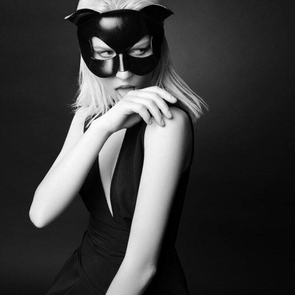 Black erotic cat mask by E.L.F Zhou London at Brigade Mondaine