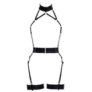 Playsuit Alivia black elastic. Removable garters. Flash You And Me on Brigade Mondaine