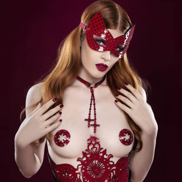 Masque Chat rouge de la collection Original Rosso signé Fraulein Kink