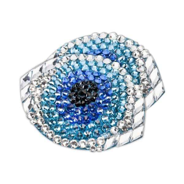 Strass Nippies Blue Eye Shaped Gaze by Ruthel Melbourne at Brigade Mondaine