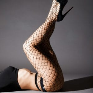 Fishnet tights with Swarosvki Crystal Eyez at Brigade Mondaine