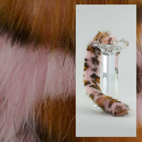 Plug Anal léopard rose fait à la main en verre Borosilicate CRYSTAL DELIGHTS chez Brigade Mondaine