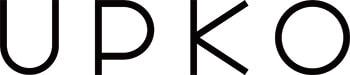 Logo de la marque UPKO en majuscules noires