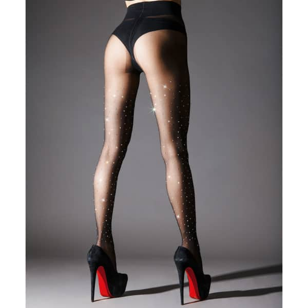 Black tights with Swarovski Crystal Eyez inlay
