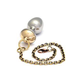 Golden and silver ROSEBUDS nipple plug from BRIGADE MONADAINE