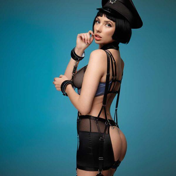 Roleplay Costume de Policière pour les jeux coquins