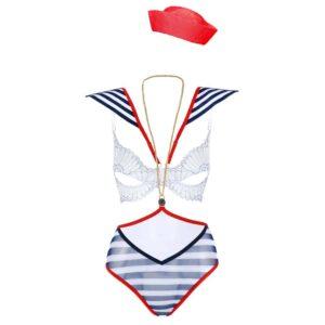 Costume de jeux de role de marinière bleu blanc et rouge pour vos roleplay